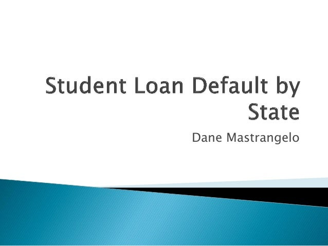Student loan default by state