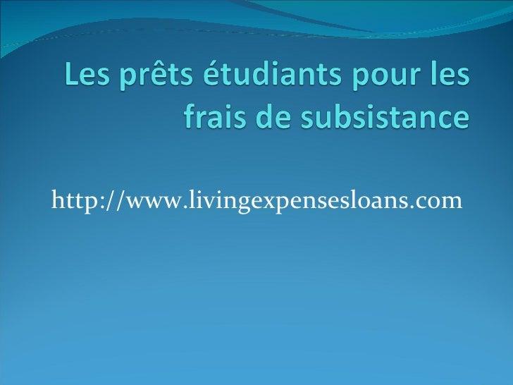 http://www.livingexpensesloans.com