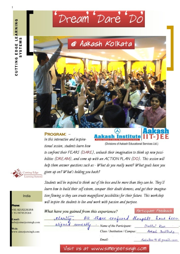 Student motivational workshops at Aakash institute India