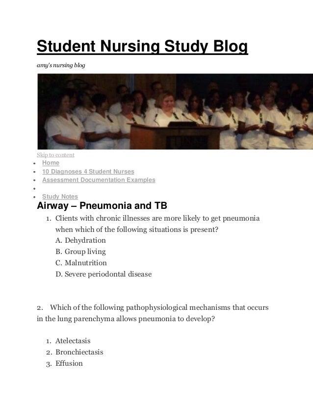Student nursing study blog