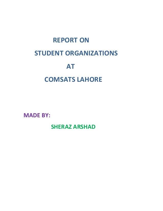 Student Organizations at COMSATS Lahore