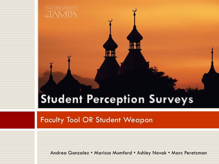 Student Perception Surveys - Market Research Study
