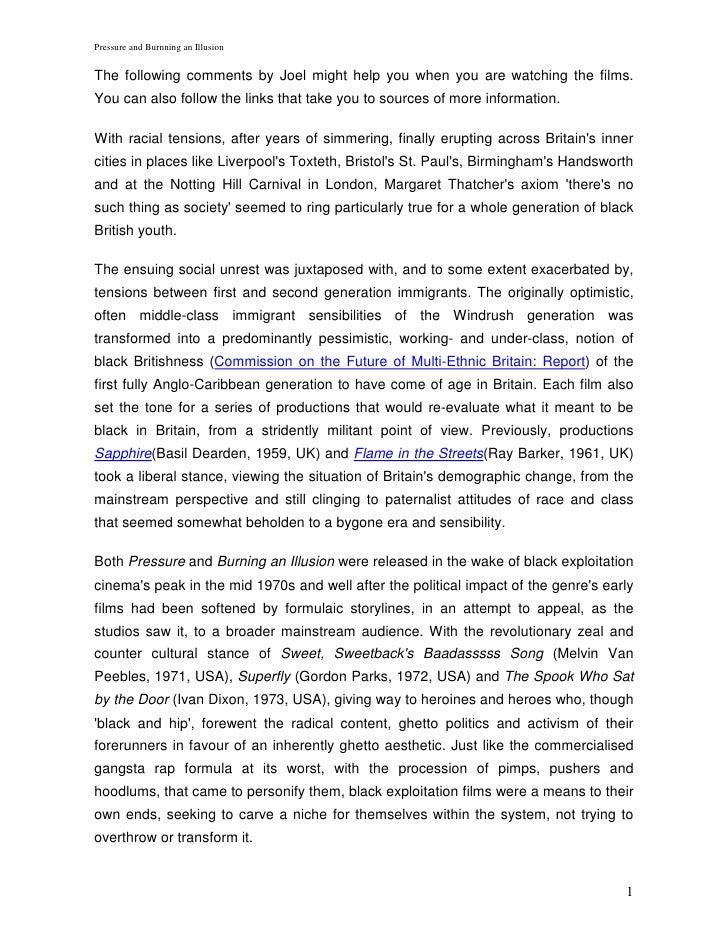 BFI Notes: Pressure