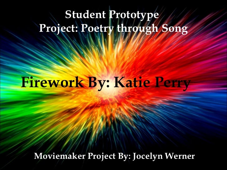 Student prototype katie perry poetry through song