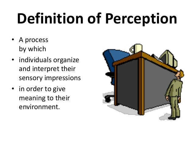 importance of perception in organisation behaviour