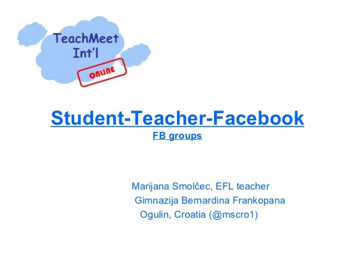 teachers and students relationship on facebook
