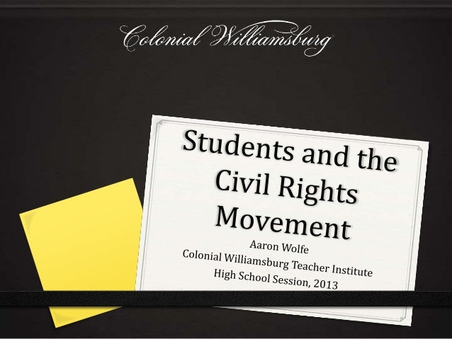 Students and the civil rights movement 2013