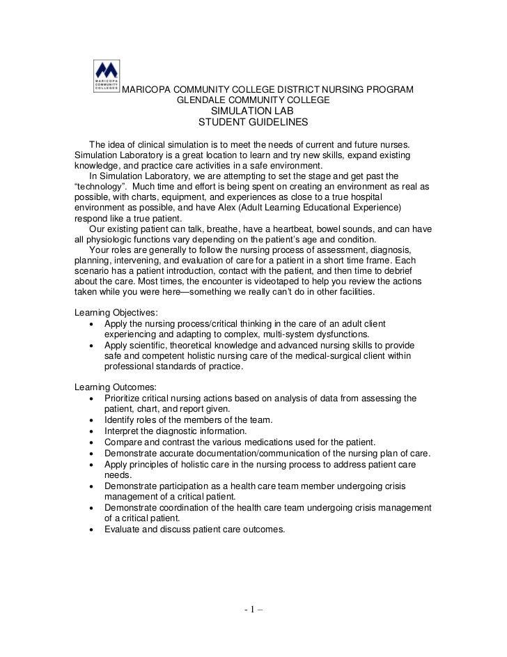 MARICOPA COMMUNITY COLLEGE DISTRICT NURSING PROGRAM                     GLENDALE COMMUNITY COLLEGE                        ...