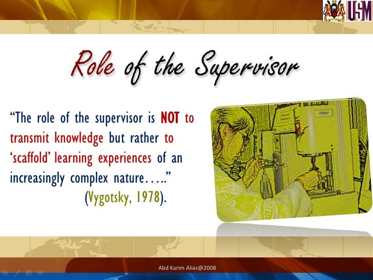 What are the tasks of a PhD- supervisor?