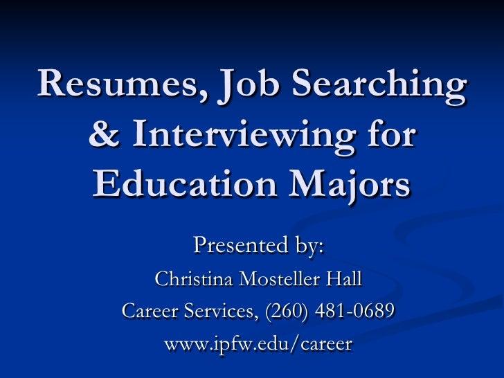 Job Searching for Educators