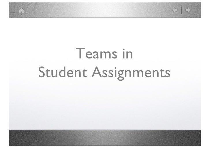 Teams in Student Work