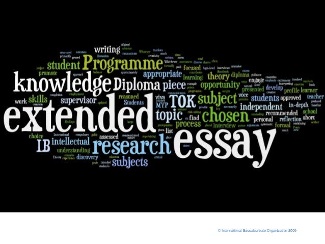 Extended essay criteria for biology