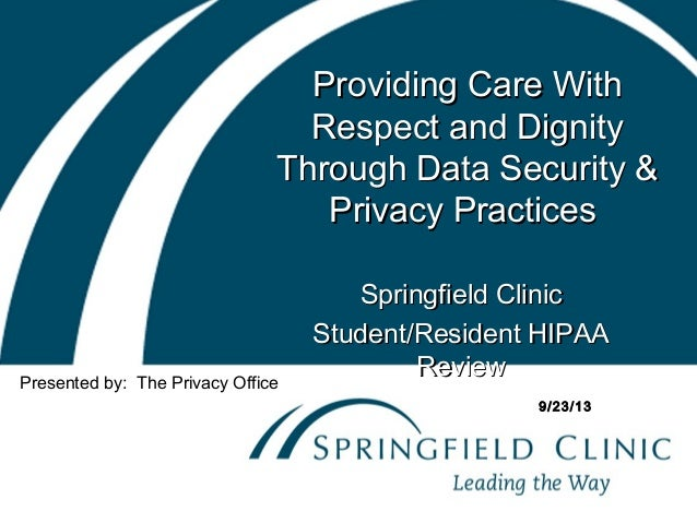 Data Security & Privacy Practices - Student/Resident Training