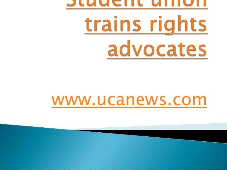 Student union trains rights advocates