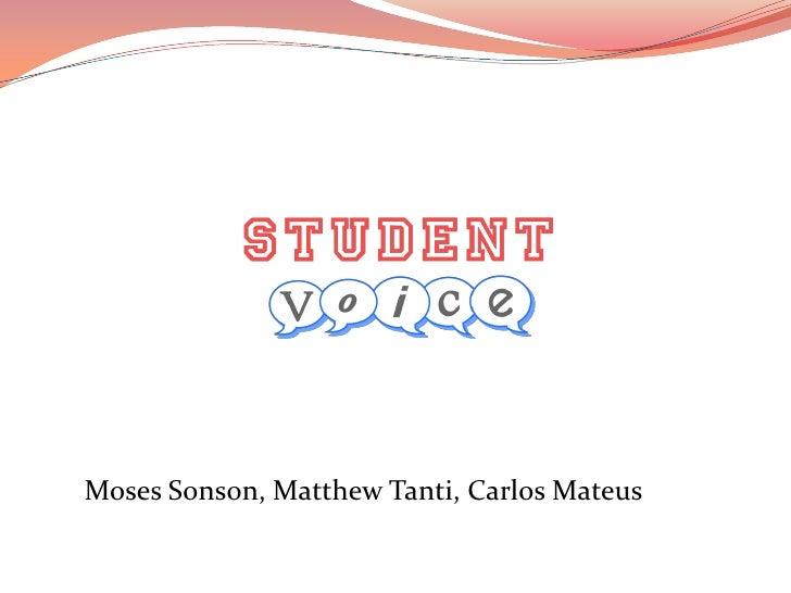 Moses Sonson, Matthew Tanti, Carlos Mateus<br />