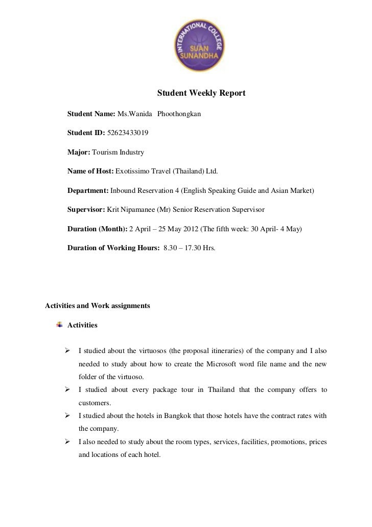 Student weekly report_5th
