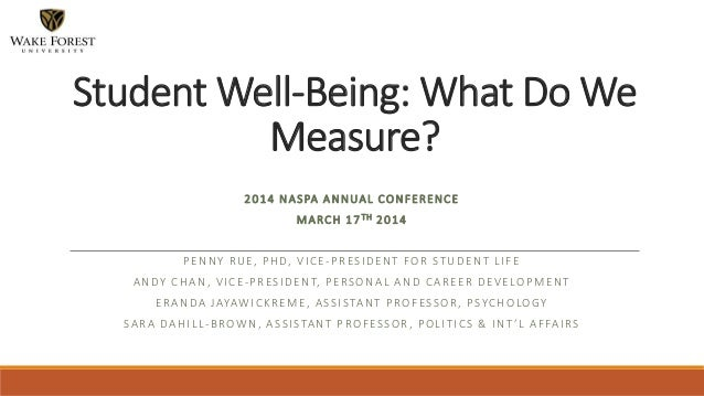 2014 NASPA ANNUAL CONFERENCE MARCH 17TH 2014 PENNY RUE, PHD, VICE-PRESIDENT FOR STUDENT LIFE ANDY CHAN, VICE-PRESIDENT, PE...