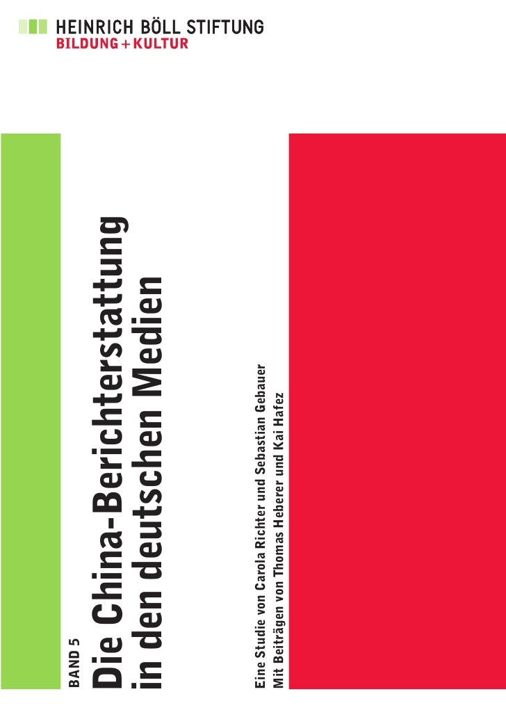 """Studie """"Die China-Berichterstattung in den deutschen Medien"""""""