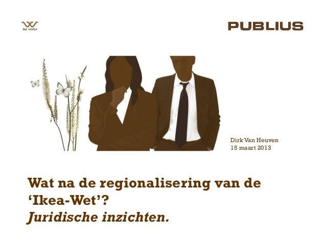 Publius Studiedag 15 maart 2013