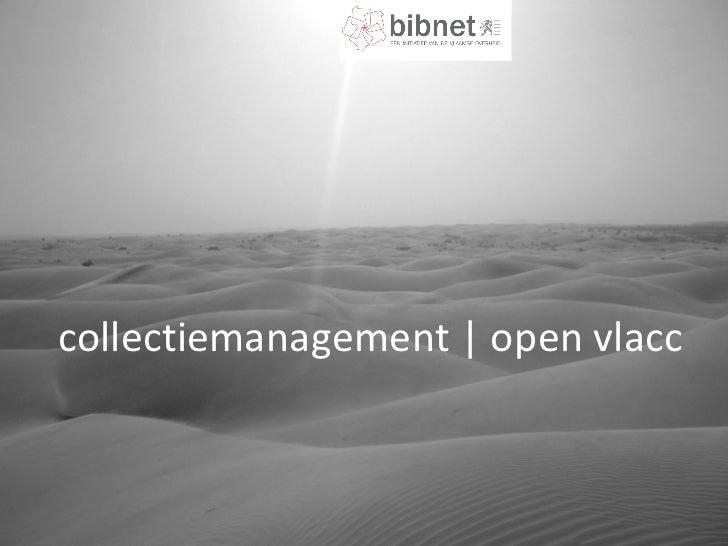 collectiemanagement | open vlacc