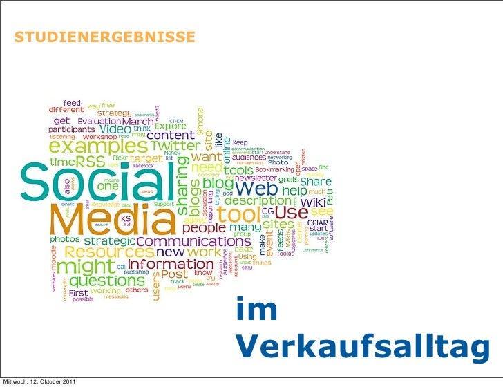 Studienergebnisse Social Media im Verkauf -