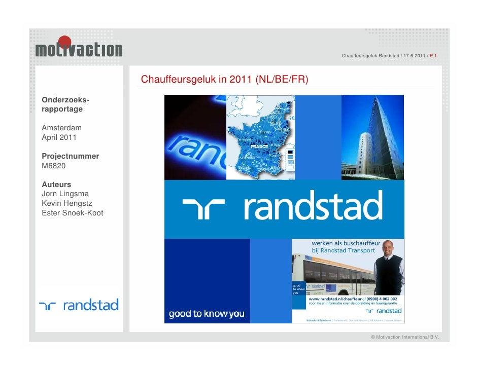 Chauffeursgeluk Randstad / 17-6-2011 / P.1                                                             <Kernwoord onderzoe...