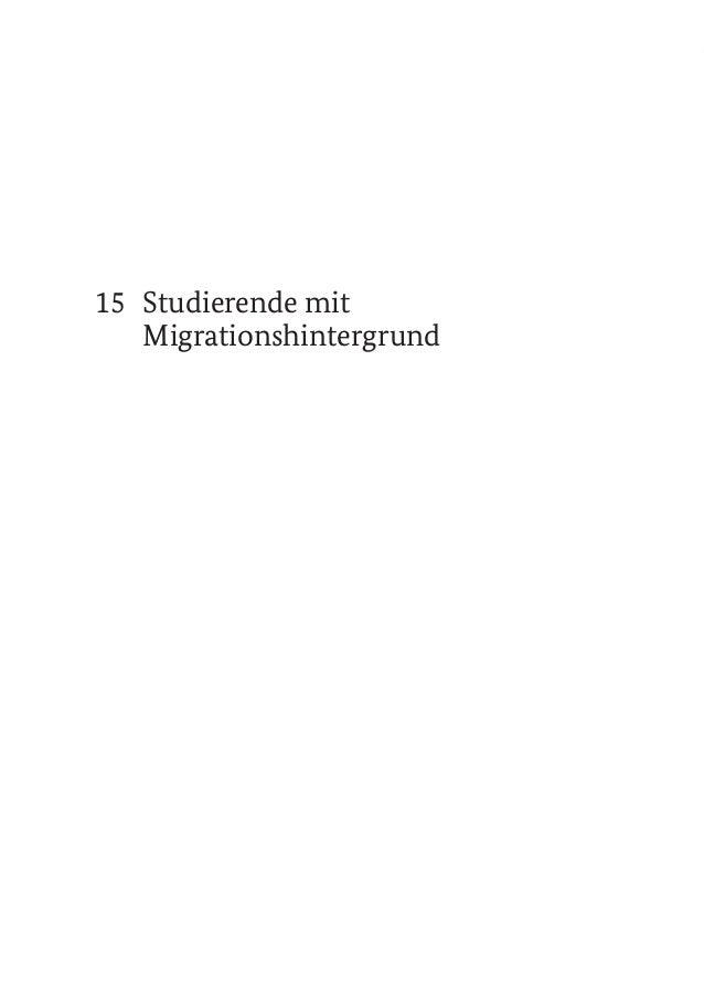 15 Studierende mit Migrationshintergrund 519STUDIERENDE MIT MIGRATIONSHINTERGRUND