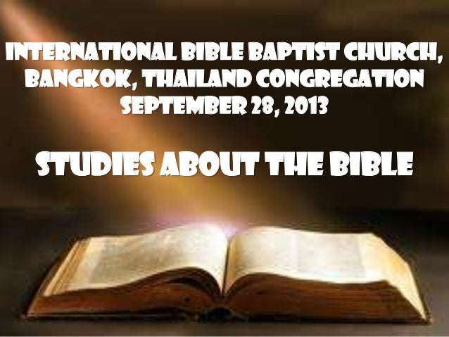 Studies about the bible