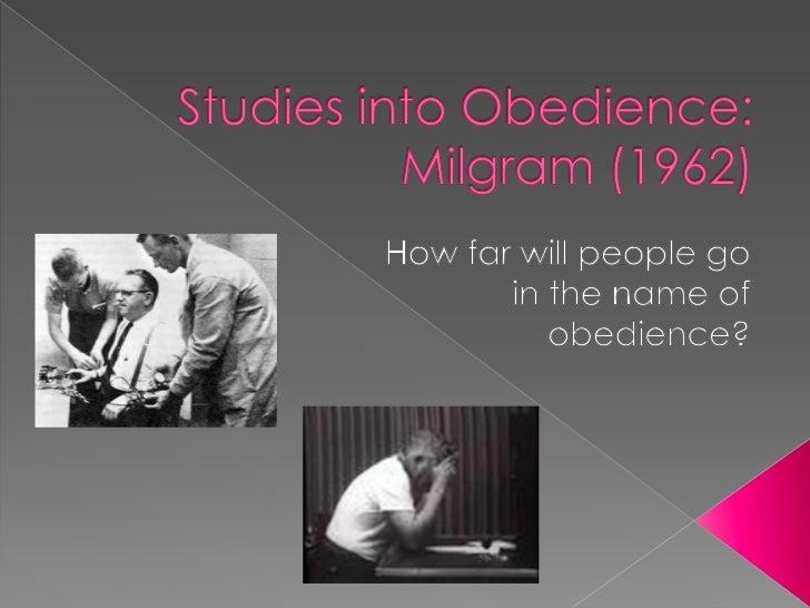 milgram behavioural study of obedience Blog episode 97: stanley milgram obedience study finally replicated stanley milgram obedience study finally stanley milgram obedience study finally.