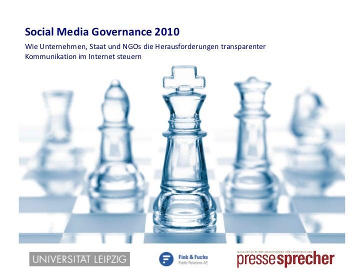 Studie Social Media Governance 2010 - Ergebnisbericht