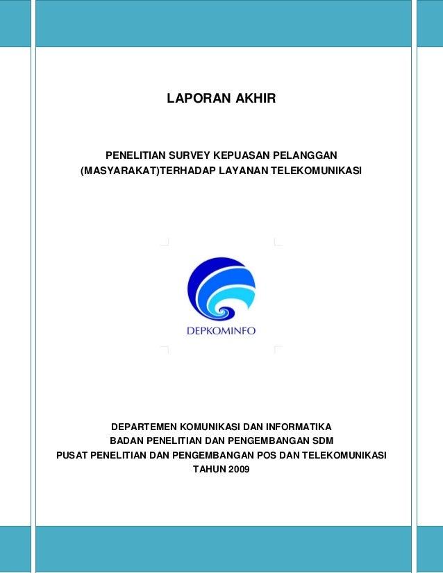 Studi layanan telekomunikasi 2009