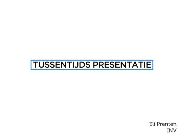 Studio  tussentijdse presentatie