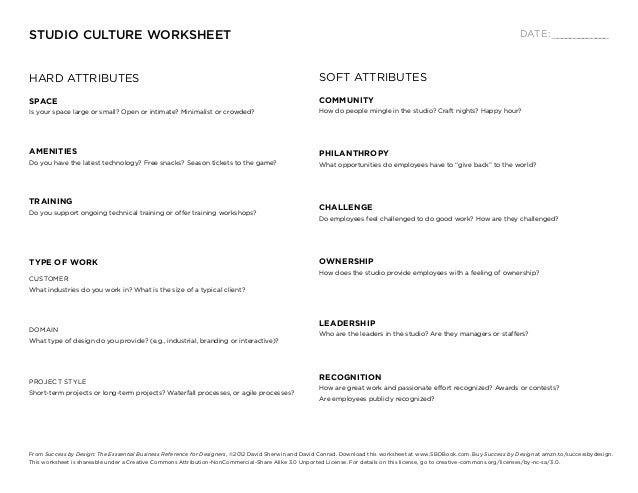Studio Culture Worksheet v1