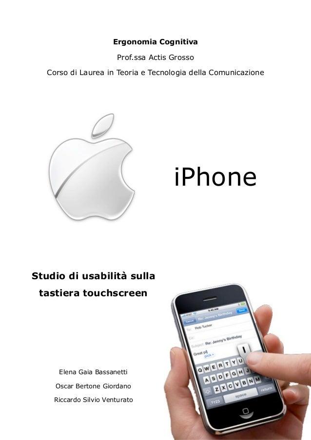 Ergonomia Cognitiva                        Prof.ssa Actis Grosso   Corso di Laurea in Teoria e Tecnologia della Comunicazi...