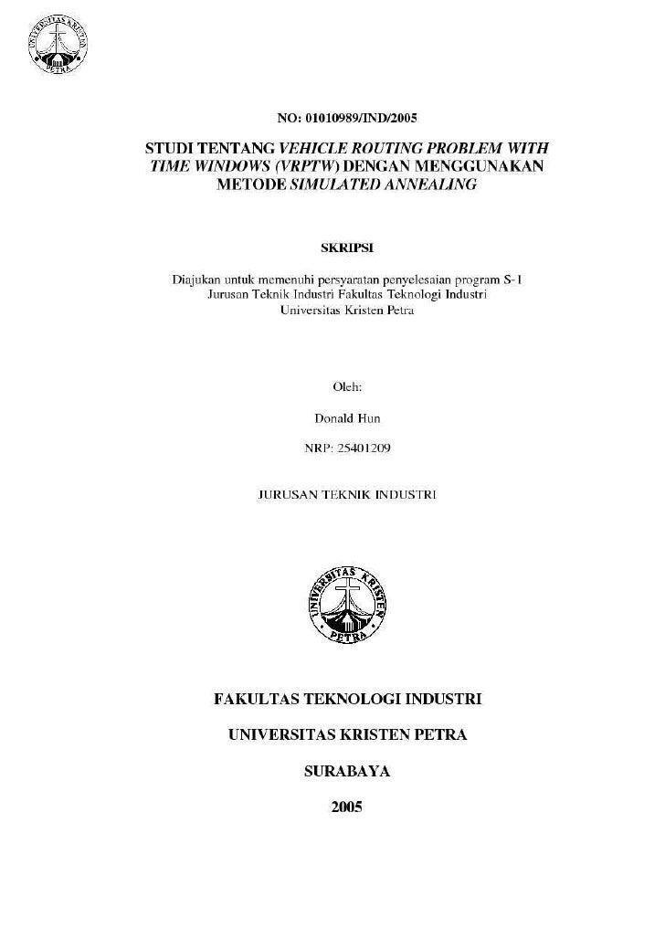 Studi tentang vrptw