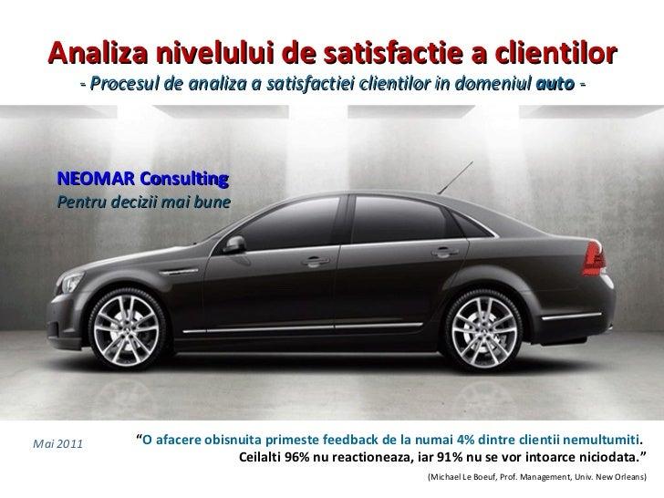 Studiu satisfactie clienti (css)   industria auto (mai 2011)