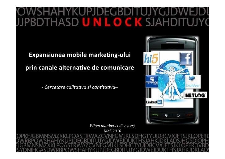Expansiunea  mobile  marke1ng-‐ului       prin  canale  alterna1ve  de  comunicare   z            -‐Cer...