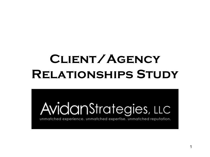 Client/Agency Relationships Study
