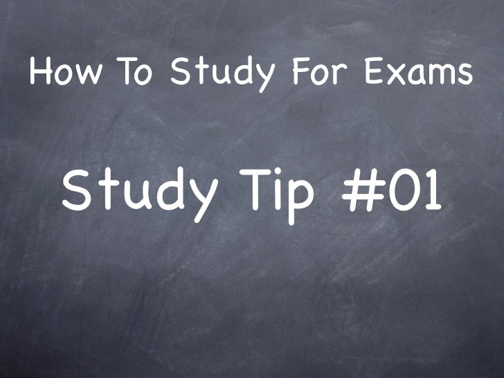 How To Study For Exams    Study Tip #01