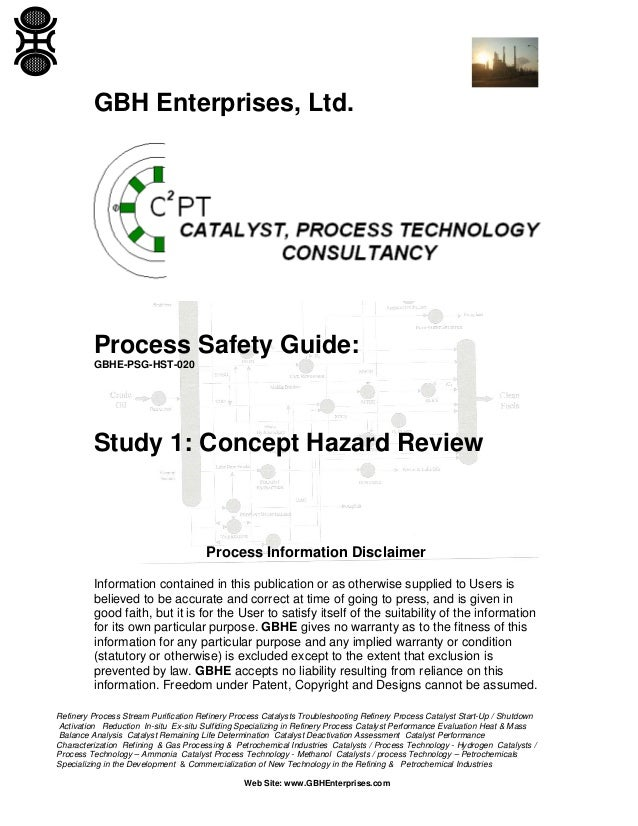 Study 1: Concept Hazard Review