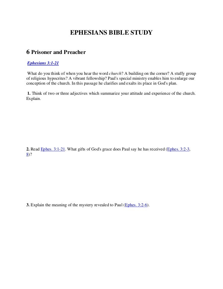 Study 6   prisoner and preacher