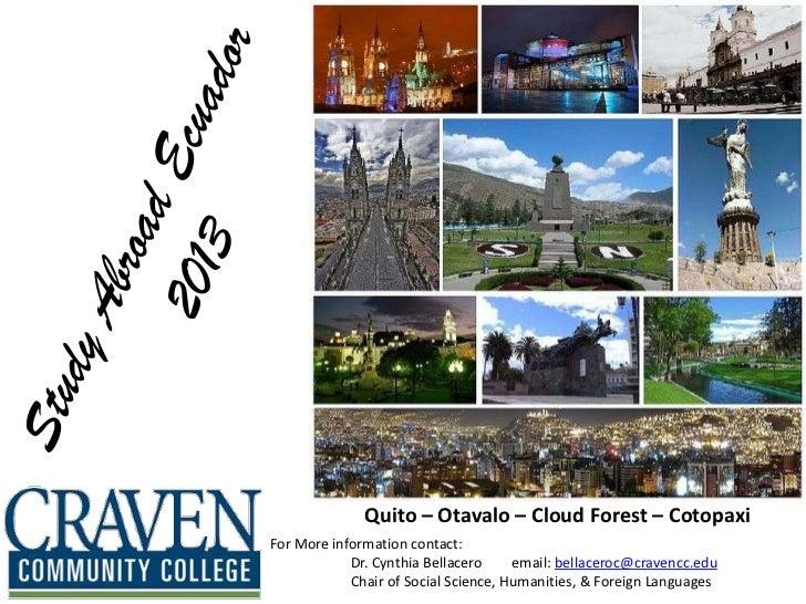 Study abroad ecuador 2013