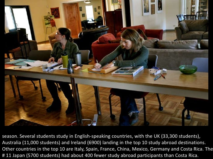in the study abroad office, study abroad advisors take student applications for the year 2011 season. Several students stu...