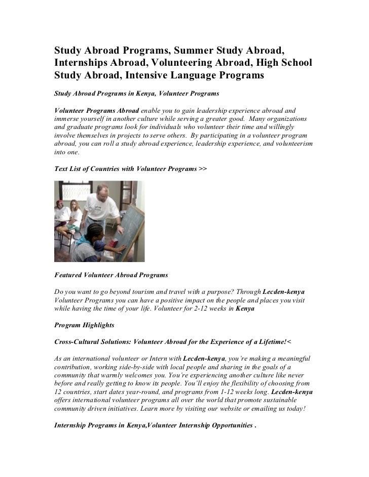Study Abroad Programs, Summer Study Abroad,Internships Abroad, Volunteering Abroad, High SchoolStudy Abroad, Intensive Lan...