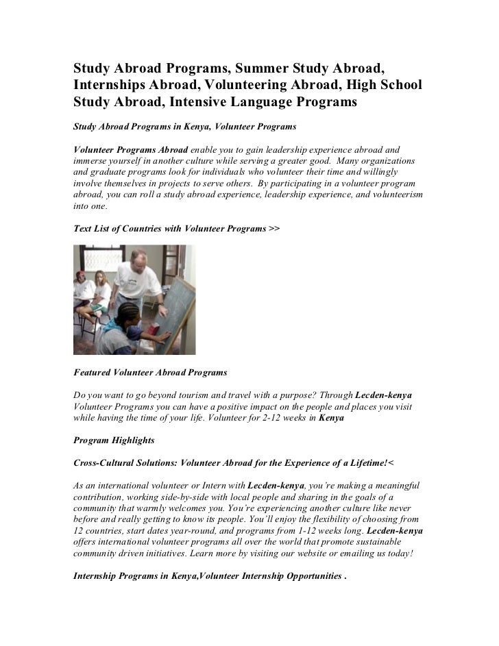 Study abroad programs, summer study abroad, internships abroad, volunteering abroad, high school study abroad, intensive language programs