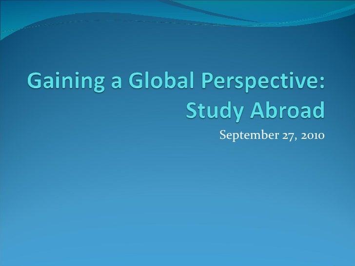 Study abroad workshop