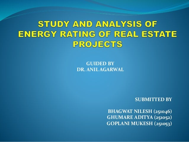 Study and analysis of energy rating of real estate projects in India