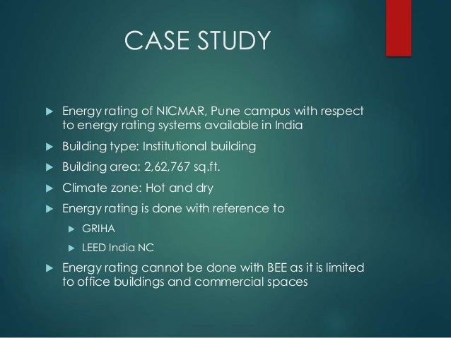 Case Study  Energy Rating of