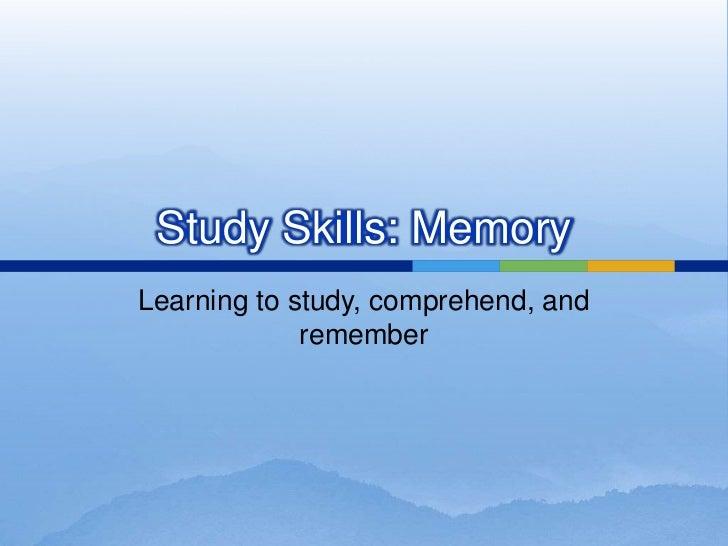 Study and Memory Skills
