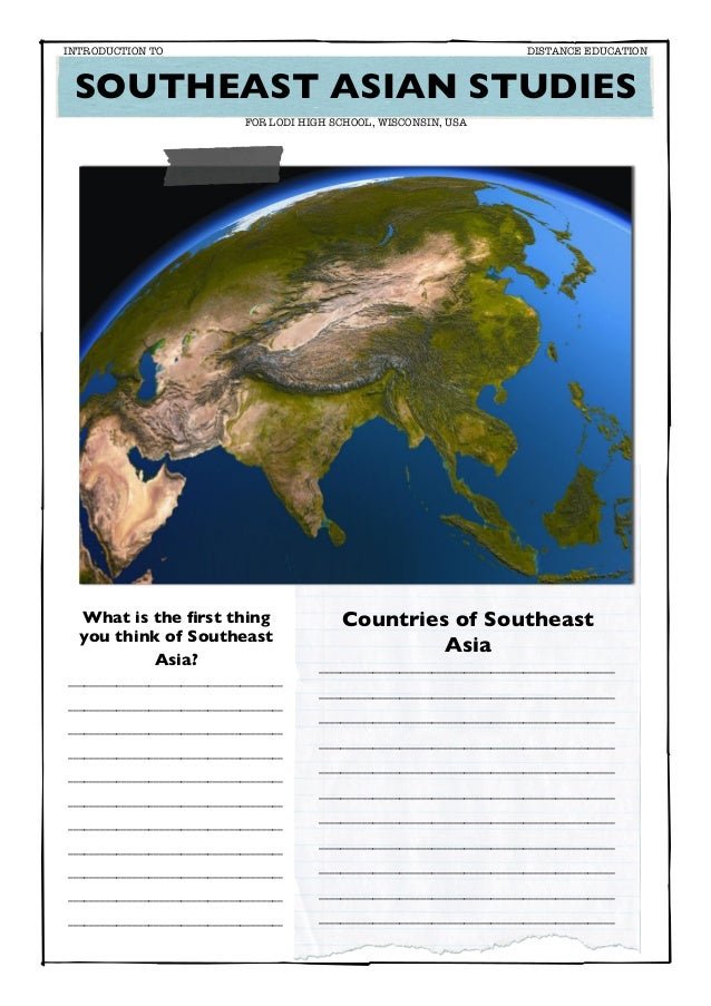 Study Guide Introduction to Southeast Asia